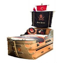 Black Pirate schipbed voor de jongenskamer