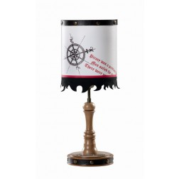 Black Pirate tafellamp piraten jongens kamer