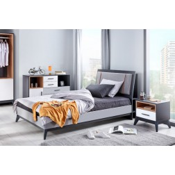 Boston moderne twijfelaar bed tienerkamer 200 x 120 cm