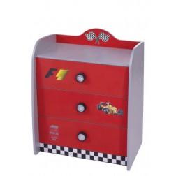 V Power rood kinderladekast 3 lades kinderkamer