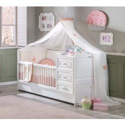 Romantic babybed ledikant meegroeibed babykamer